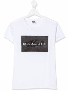 Karl Lagerfeld Kids футболка с логотипом Z1523210B