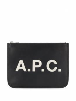 A.P.C. клатч на молнии с логотипом PUAAOM63383