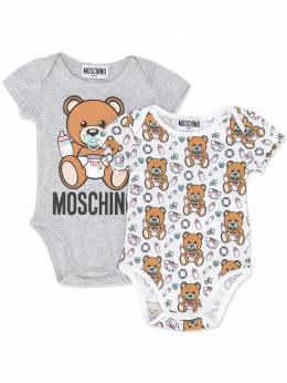 Moschino Kids комплект из двух комбинезонов для новорожденного MPY017LAB15B