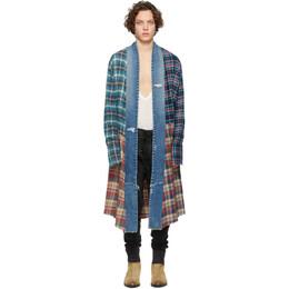 Greg Lauren Multicolor Long Kimono Studio Shirt SS20M124