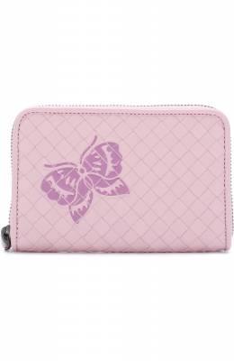 Кожаный кошелек с плетением intrecciato и аппликацией Bottega Veneta 464850/VCL61