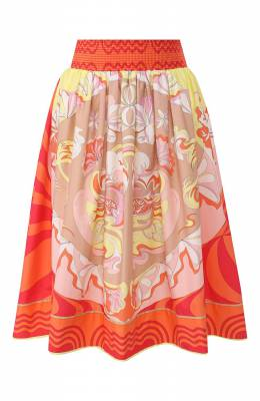 Хлопковая юбка Emilio Pucci 0ERW08/0E861