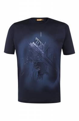 Хлопковая футболка Zilli MES-NT240-TRIU1/MC01