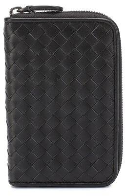 Кожаное портмоне с плетением intrecciato на молнии Bottega Veneta 464850/V001N