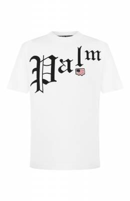 Хлопковая футболка Palm Angels PMAA001S204130120110
