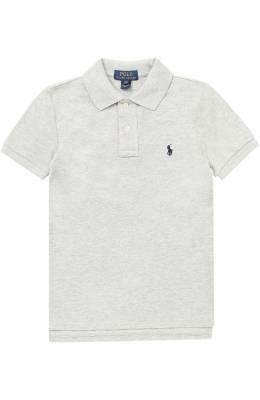 Хлопковое поло с логотипом бренда Polo Ralph Lauren 323547926