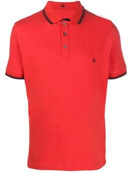 Fay рубашка-поло с отделкой в полоску NPMB240140SITOR016