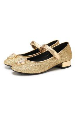 Туфли с застежкой велькро Versace YHF00022/YB00117/30-33