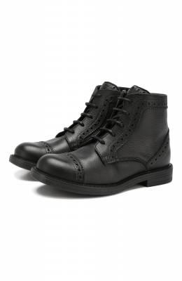 Кожаные ботинки с брогированием Lanvin 58466/36-41