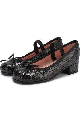 Туфли с отделкой глиттером и эластичной перемычкой Pretty Ballerinas 39.976/9.033/KYLIE