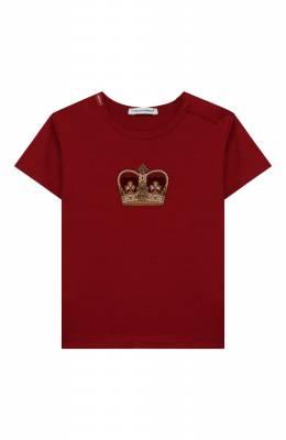Хлопковая футболка Dolce&Gabbana L1JT6S/G7VJS
