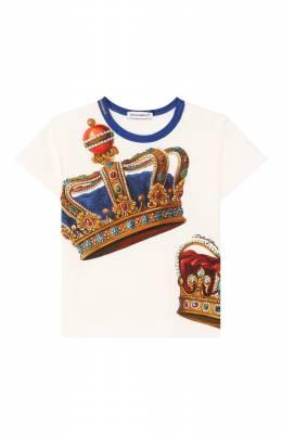Хлопковая футболка Dolce&Gabbana L1JT6S/G7VJR