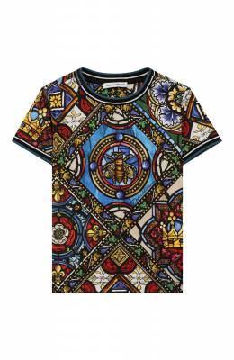 Хлопковая футболка Dolce&Gabbana L1JT6M/HS7AI