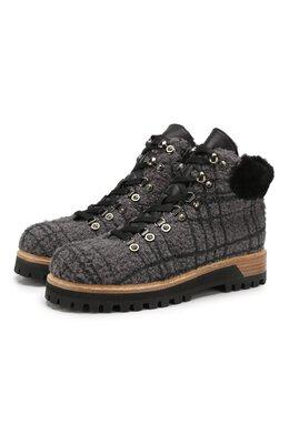 Текстильные ботинки St. Moritz Le Silla 7583P040M1MMFUR