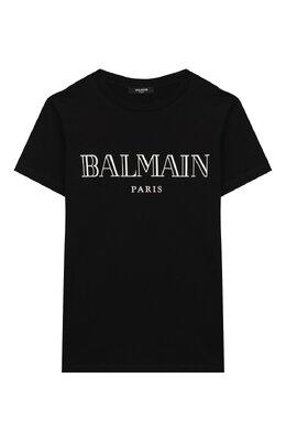 Хлопковая футболка Balmain 6M8721/MX030/12-16