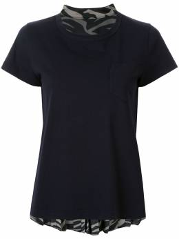 Sacai футболка с шифоновыми вставками 2004923