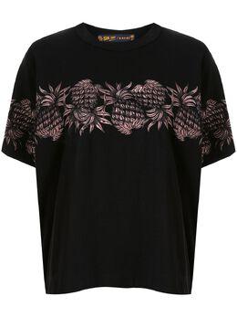 Sacai футболка с вышивкой 2004944