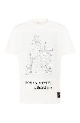 Хлопковая футболка Brioni UJCH0L/08637
