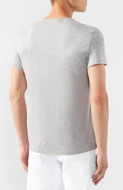 Хлопковая футболка Alexander McQueen 582900/QNZ3A - 4