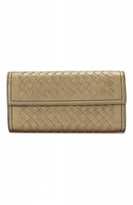 Кожаный кошелек с плетением intrecciato Bottega Veneta 150509/VBNG1