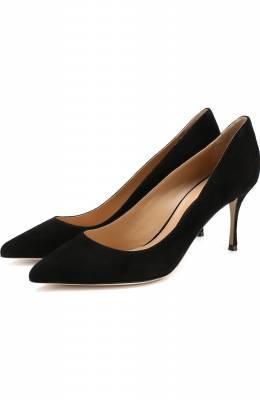 Замшевые туфли на шпильке Sergio Rossi A43841-MCAZ01
