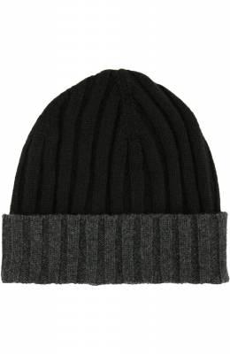 Кашемировая шапка с контрастным отворотом Gran Sasso 13165/15562