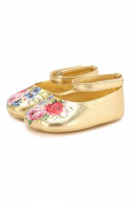 Кожаные пинетки Dolce&Gabbana DK0065/AA041