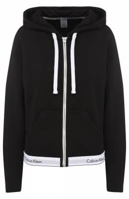Хлопковый кардиган на молнии с капюшоном Calvin Klein Underwear QS5667E