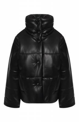 Куртка Nanushka HIDE_BLACK_VEGAN LEATHER