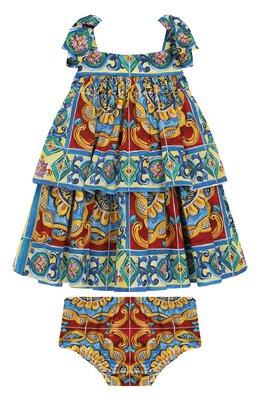 Комплект из хлопкового платья и шорт Dolce&Gabbana L21D06/G7SL0