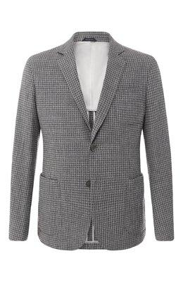 Однобортный пиджак из смеси шерсти и кашемира Giorgio Armani 8WGGG02B/T002G
