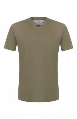 Хлопковая футболка Brunello Cucinelli M0T611344