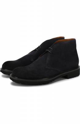 Замшевые ботинки на шнуровке Doucal's DU12470TTAUF024NB00