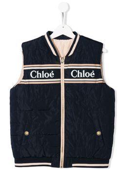 Chloe Kids дутый жилет с логотипом C16362849