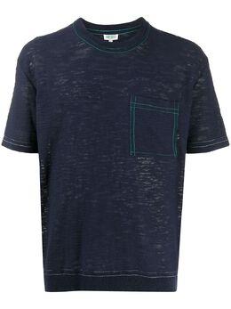 Kenzo футболка с карманом FA55TS5323DB