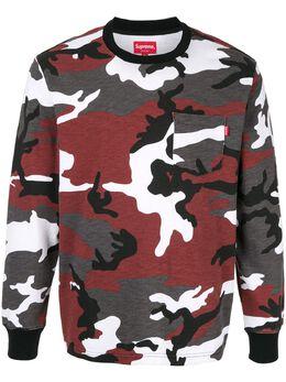 Supreme футболка с камуфляжным принтом SU6051