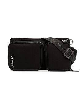 Off-White поясная сумка 'Cordura' с принтом логотипа OMNA024E185210221001