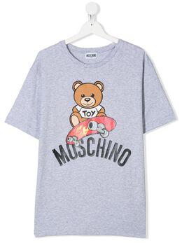 Moschino Kids футболка с принтом HVM029LBA10