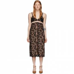 Gucci Black Flower Lace Shell Dress 609728 ZADT4
