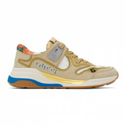 Gucci Gold Sparkling Ultrapace Sneakers 602228 HW910