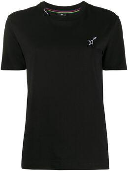 Ps by Paul Smith приталенная футболка с вышивкой W2RG799AP1713