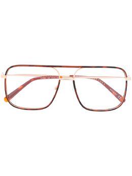 Stella Mccartney Eyewear очки в массивной оправе черепаховой расцветки SC0124O