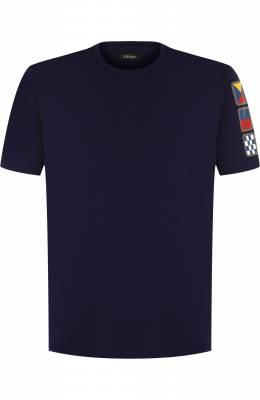 Хлопковая футболка с принтом Z Zegna VP372/ZZ630N