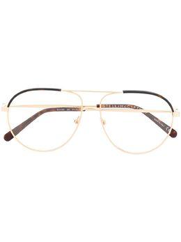 Stella Mccartney Eyewear двухцветные очки-авиаторы SC0125O