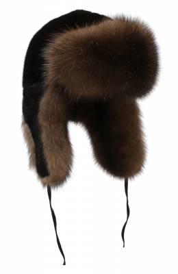 Шапка-ушанка из меха норки и соболя Furland 0090907410131300000