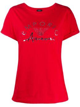 Emporio Armani футболка с круглым вырезом и логотипом 1643400P291