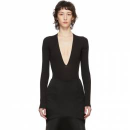Dsquared2 Black Rib Long Sleeve Bodysuit S75NA0077 S23600