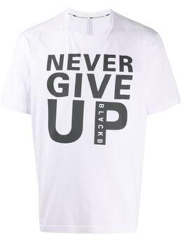 Blackbarrett футболка Never Give Up с графичным принтом XJT4271AX