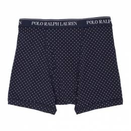 Polo Ralph Lauren Three-Pack Pink and Blue Boxer Briefs RCBBS32TL