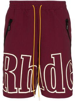 Rhude спортивные шорты с логотипом RHU06PS20038